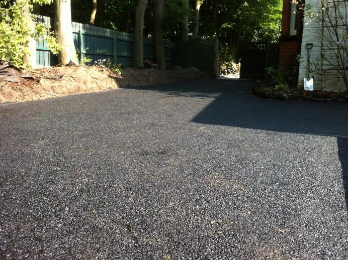 brand new tarmac driveway