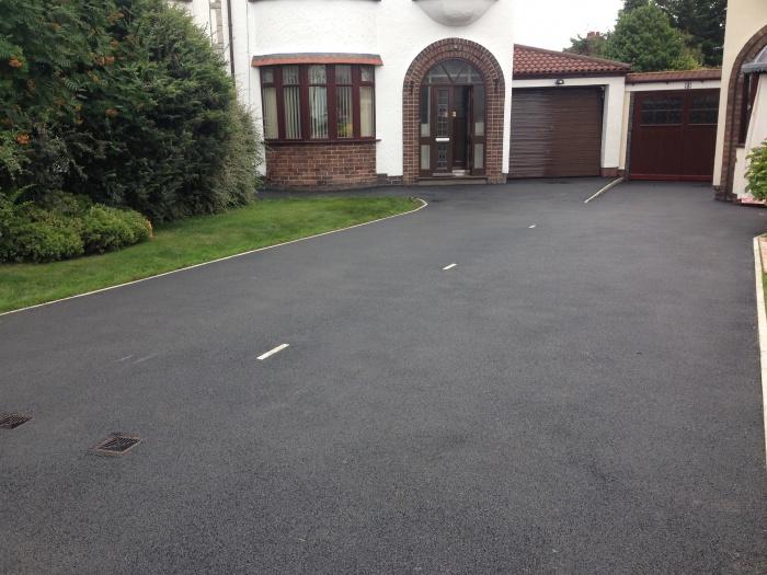 asphalt driveway with markings