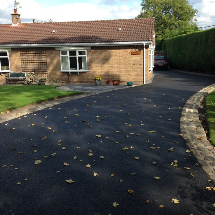 completely level tarmac driveway