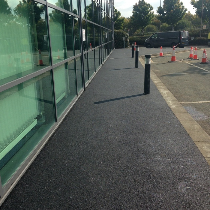 car park footpath surfaced with asphalt