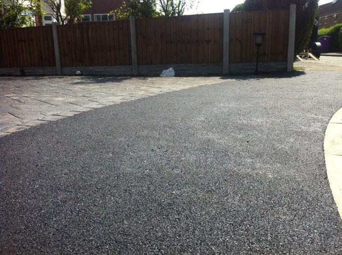 close up of an asphalt footpath