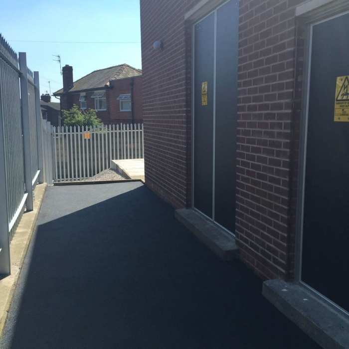 footpath surfaced with tarmacadam