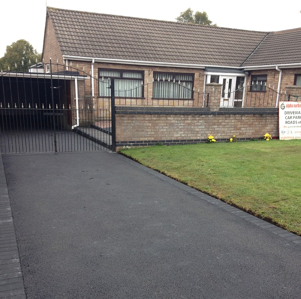 high quality driveway and a gate