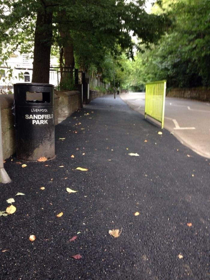 sandfield park asphalt footpath