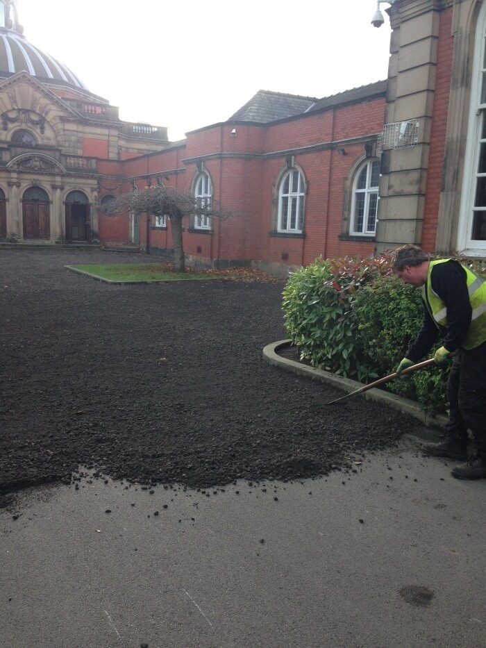 school bluecoat surfacing with tarmac
