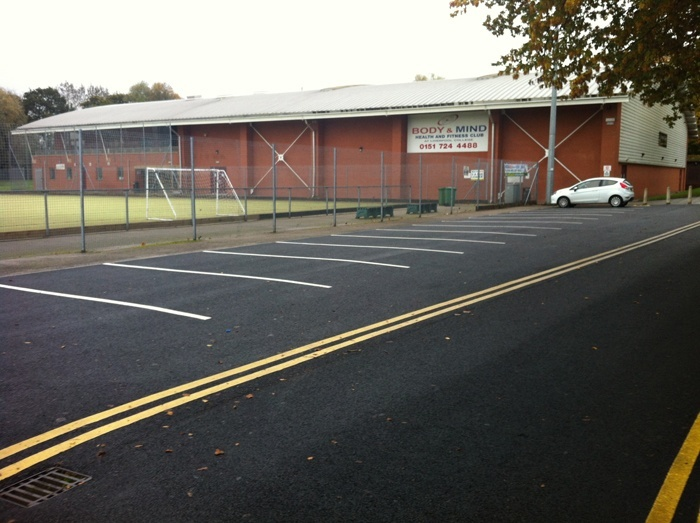 sports centre asphalted car park