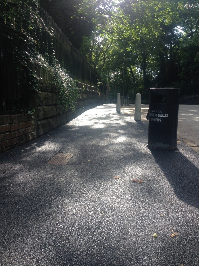 surfaced footpath on a sunny day